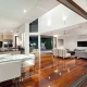 Luxurious Modern Home Kitchen and Living Room