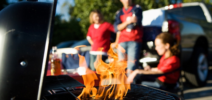 Grilling at a Tailgate Party