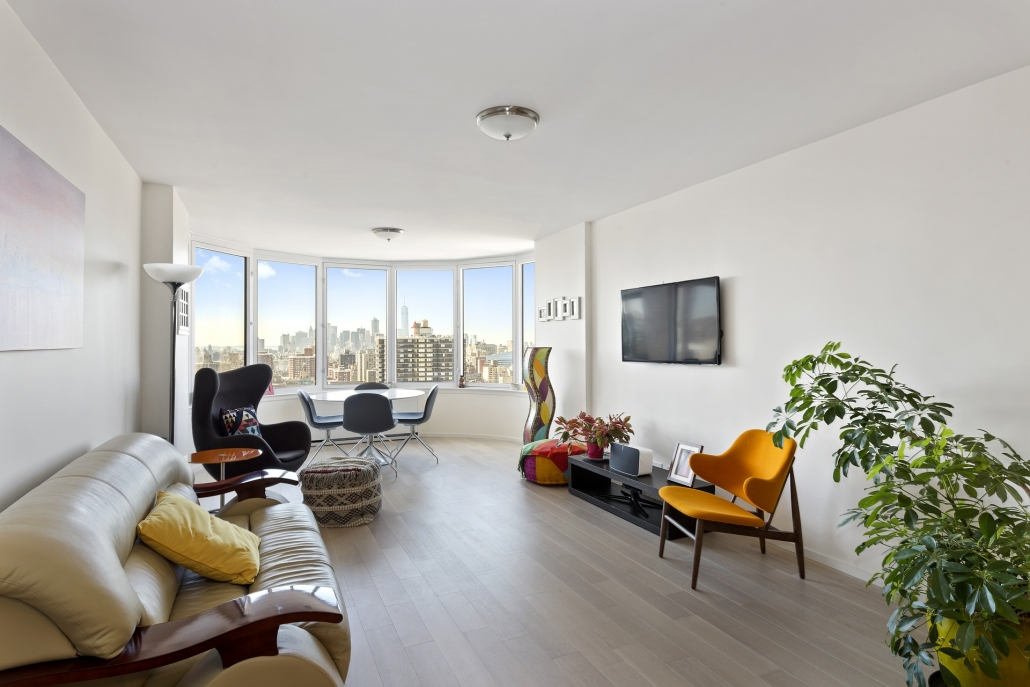 Living Room in High-Rise Condo