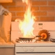 Fire On Kitchen Stove