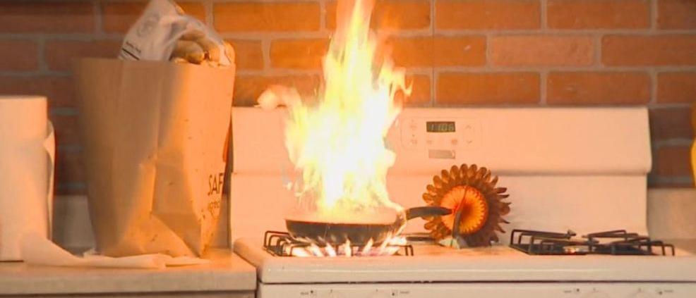 Fire On Kitchen Stove