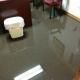 office flooding after water heater leak